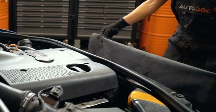 Wie Luftfilter AUDI A4 Limousine (8D2, B5) 1.9 TDI 1995 austauschen - Schrittweise Handbücher und Videoanleitungen