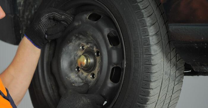 Bremsbacken am VW GOLF III (1H1) 1.9 D 1996 wechseln – Laden Sie sich PDF-Handbücher und Videoanleitungen herunter