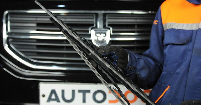 Wie Scheibenwischer Dodge Caliber SRT4 2.0 CRD 2006 tauschen - Kostenlose PDF- und Videoanleitungen