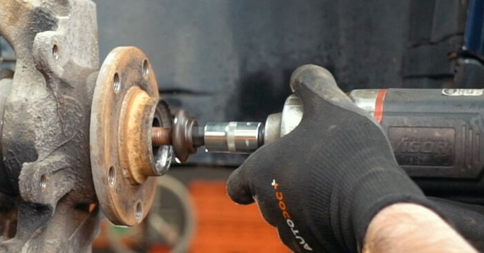 Replacing Wheel Bearing on Audi A4 B5 1996 1.6 by yourself