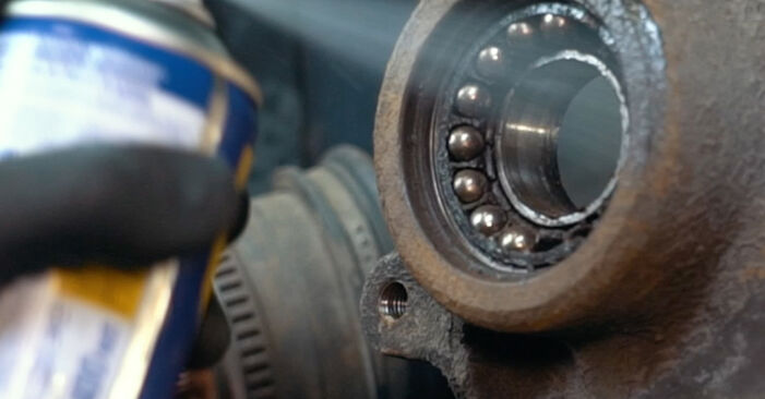 How hard is it to do yourself: Wheel Bearing replacement on Audi A4 B5 S4 2.7 quattro 2000 - download illustrated guide