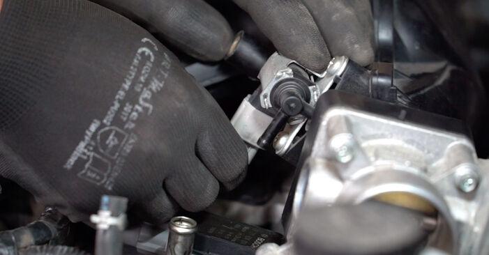 Schritt-für-Schritt-Anleitung zum selbstständigen Wechsel von Nissan Qashqai j10 2011 1.6 dCi Zündspule