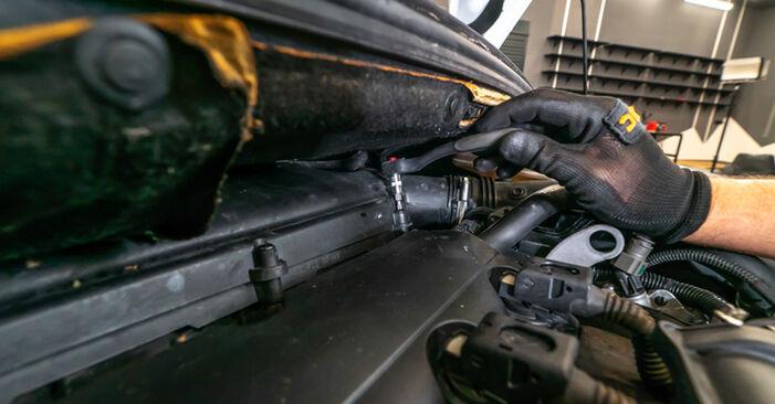 Luftfilter am PEUGEOT 308 I Schrägheck (4A_, 4C_) 1.6 16V 2012 wechseln – Laden Sie sich PDF-Handbücher und Videoanleitungen herunter