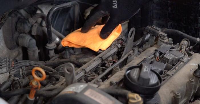 Så byter du Tändspole på VW Caddy III Kombi (2KB, 2KJ, 2CB, 2CJ) 2009: ladda ned PDF-manualer och videoinstruktioner