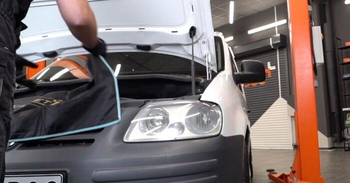 Byt VW CADDY 1.9 TDI Tändspole: guider och videoinstruktioner online