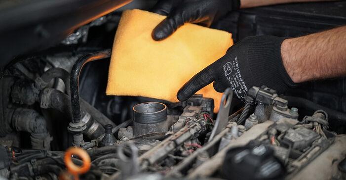 Wechseln Luftfilter am VW Caddy III Kombi (2KB, 2KJ, 2CB, 2CJ) 1.6 2007 selber