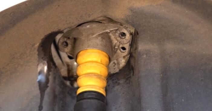 Как да демонтираме VW POLO 1.9 TDI 2005 Амортисьор - онлайн лесни за следване инструкции