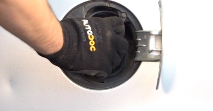Wie Kraftstofffilter VW POLO (9N_) 1.2 12V 2002 austauschen - Schrittweise Handbücher und Videoanleitungen