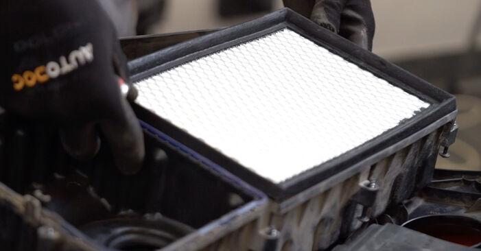 VW POLO 1.2 Luftfilter ausbauen: Anweisungen und Video-Tutorials online