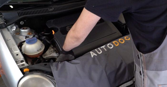 Wie Luftfilter VW POLO (9N_) 1.2 12V 2002 austauschen - Schrittweise Handbücher und Videoanleitungen