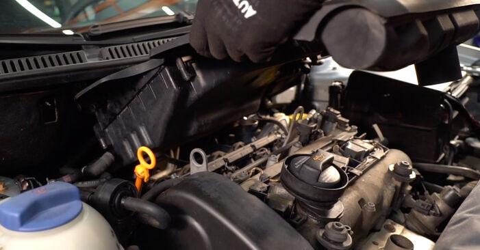 Wechseln Luftfilter am VW POLO (9N_) 1.2 2004 selber