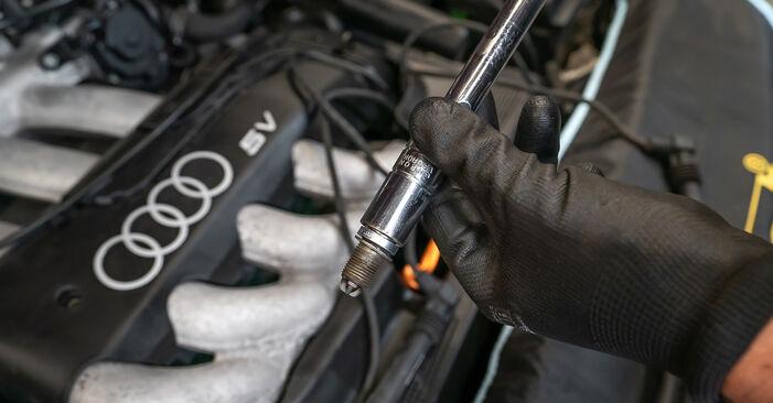 Wie schwer ist es, selbst zu reparieren: Zündkerzen Audi A3 8L 1.9 TDI 2002 Tausch - Downloaden Sie sich illustrierte Anleitungen
