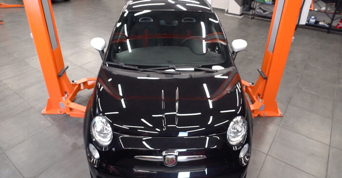 How to replace Springs on ABARTH 500 / 595 / 695 Hatchback (312_) 2013: download PDF manuals and video instructions