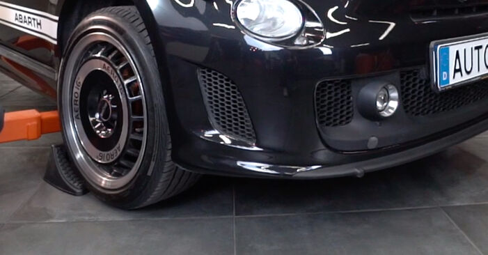 How hard is it to do yourself: Springs replacement on Abarth 595 1.4 (312.AXT1A) 2014 - download illustrated guide