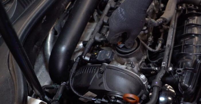 Wie Ölfilter VW GOLF VI (5K1) 2.0 TDI 2009 austauschen - Schrittweise Handbücher und Videoanleitungen