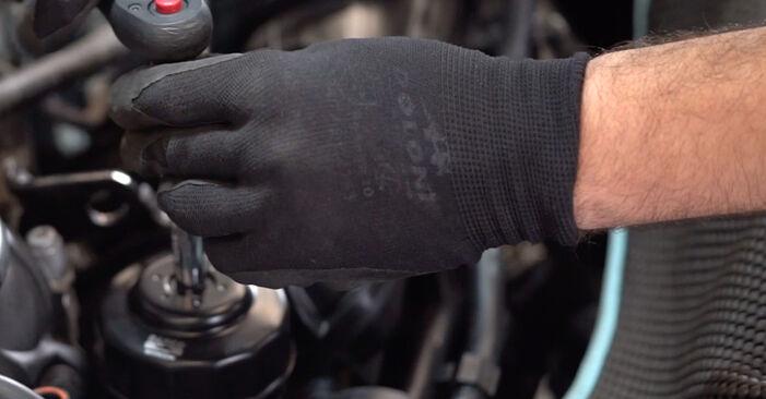 Ölfilter beim VW GOLF 2.0 TDI 2009 selber erneuern - DIY-Manual