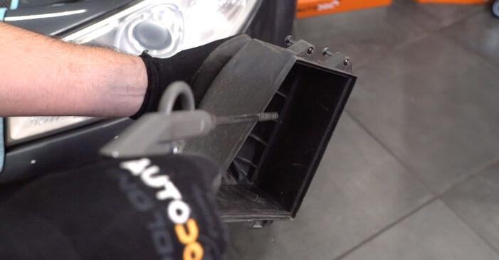 RENAULT MEGANE 1.6 Luftfilter ausbauen: Anweisungen und Video-Tutorials online