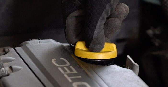 Hur byta Oljefilter på Opel Astra g f48 1998 – gratis PDF- och videomanualer