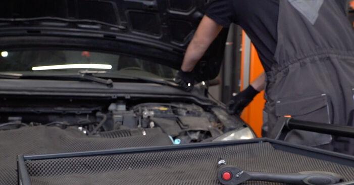 Ford Focus mk2 Sedanas 1.8 TDCi 2005 Amortizatorius keitimas: nemokamos remonto instrukcijos
