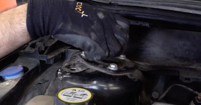 Austauschen Anleitung Federn am Ford Focus mk2 Limousine 2003 1.6 TDCi selbst