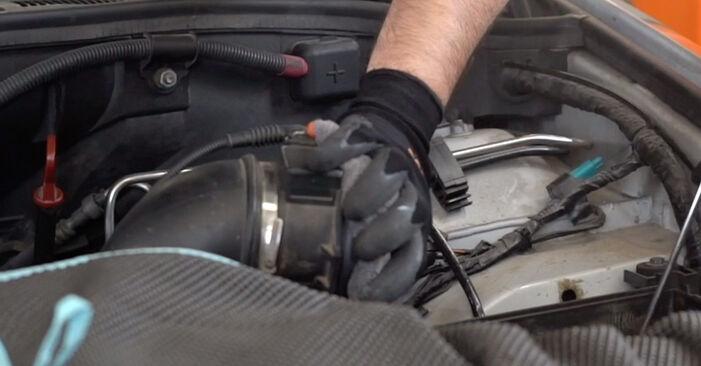 Wie schwer ist es, selbst zu reparieren: Luftfilter BMW E53 3.0 i 2006 Tausch - Downloaden Sie sich illustrierte Anleitungen