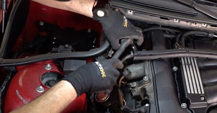 Wie Zündkerzen BMW 3 Cabrio (E46) 320Ci 2.2 2001 austauschen - Schrittweise Handbücher und Videoanleitungen