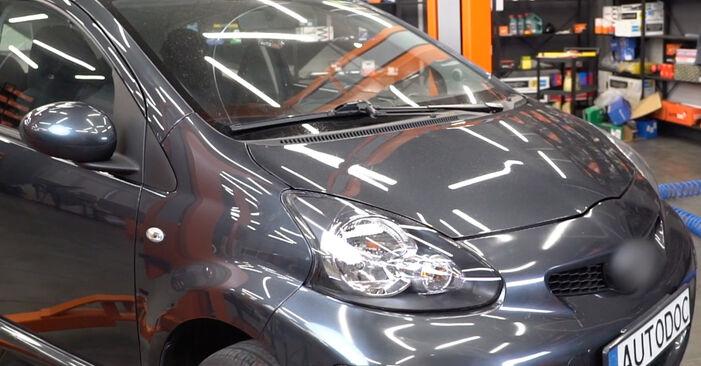 Austauschen Anleitung Federn am Toyota Aygo AB1 2005 1 selbst