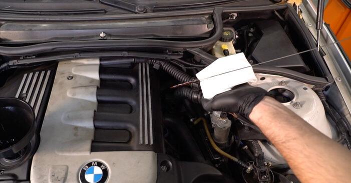 À quel point est-il difficile de le faire soi-même : télécharger le guide illustré pour le changement de Filtre à Huile sur BMW 3 Touring (E46) 330xd 2.9 2005