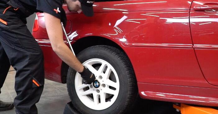 Kako zamenjati Blazilnik na BMW 3 Cabrio (E46) 2005 - prenesite PDF priročnike in video navodila