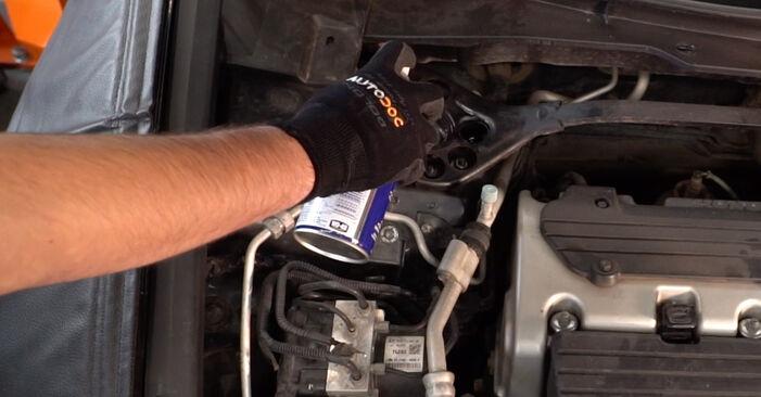 Substituição de Honda Accord VIII CU 2.2 i-DTEC (CU3) 2010 Amortecedor: manuais gratuitos de oficina