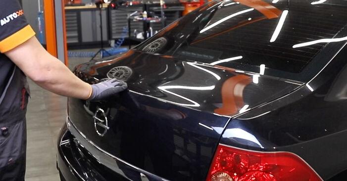Schritt-für-Schritt-Anleitung zum selbstständigen Wechsel von Opel Astra H Limousine 2012 1.7 CDTI (L69) Heckklappendämpfer