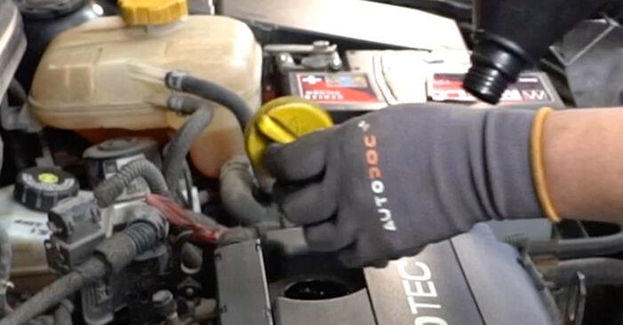 Wie schwer ist es, selbst zu reparieren: Ölfilter Opel Astra H Limousine 1.6 (L69) 2013 Tausch - Downloaden Sie sich illustrierte Anleitungen