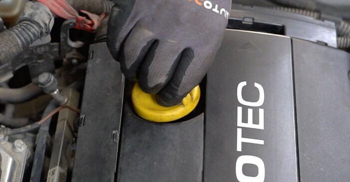Austauschen Anleitung Ölfilter am Opel Astra H Limousine 2009 1.6 (L69) selbst