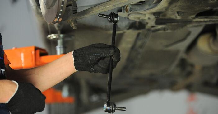Austauschen Anleitung Koppelstange am Peugeot 406 Limousine 2005 2.0 HDI 110 selbst