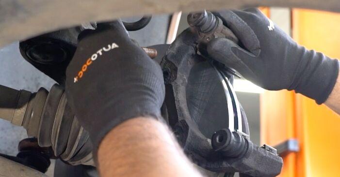 Bremsscheiben Ihres Peugeot 406 Limousine 2.0 HDI 110 2003 selbst Wechsel - Gratis Tutorial