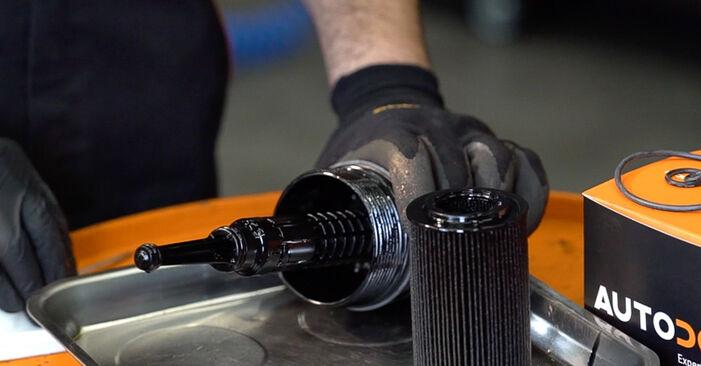 Austauschen Anleitung Ölfilter am Mercedes W638 Bus 1998 112 CDI 2.2 (638.194) selbst