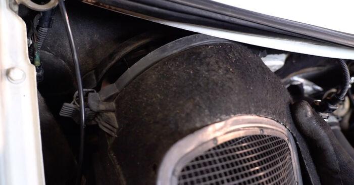 Luftfilter T4 Transporter 1.9 TD 1992 wechseln: Kostenlose Reparaturhandbücher