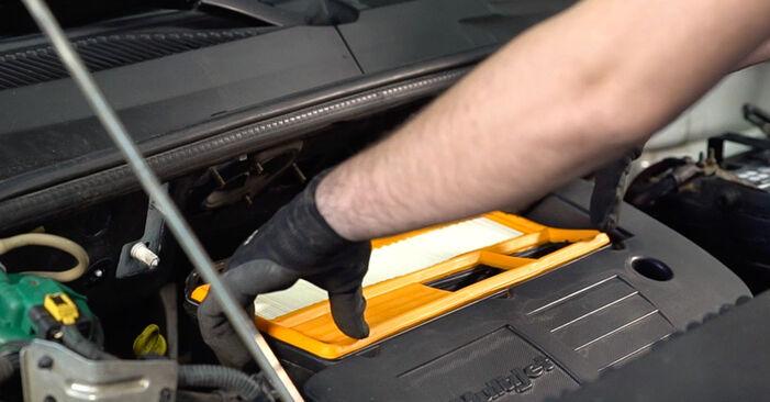 Wie schwer ist es, selbst zu reparieren: Luftfilter Fiat Doblo Cargo 1.2 2006 Tausch - Downloaden Sie sich illustrierte Anleitungen