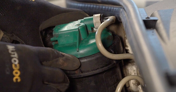 Wechseln Kraftstofffilter am FIAT Doblo Cargo (223_) 1.6 Natural Power 2003 selber
