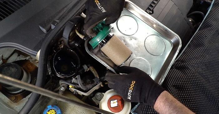 Kraftstofffilter am FIAT Doblo Cargo (223_) 1.9 JTD Multijet 2005 wechseln – Laden Sie sich PDF-Handbücher und Videoanleitungen herunter