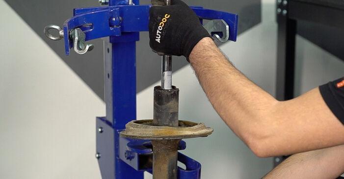 Austauschen Anleitung Stoßdämpfer am Fiat Doblo Cargo 2010 1.9 JTD selbst