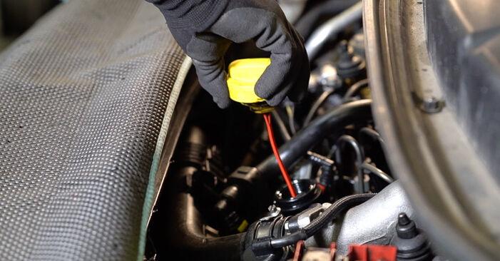 Vanskelighetsgrad: Bytte av Oljefilter på Renault Scenic 2 1.9 dCi 2009 – last ned illustrert veiledning