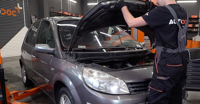 Hvordan skifte Kupefilter på Renault Scenic 2 2003 – gratis PDF- og videoveiledninger