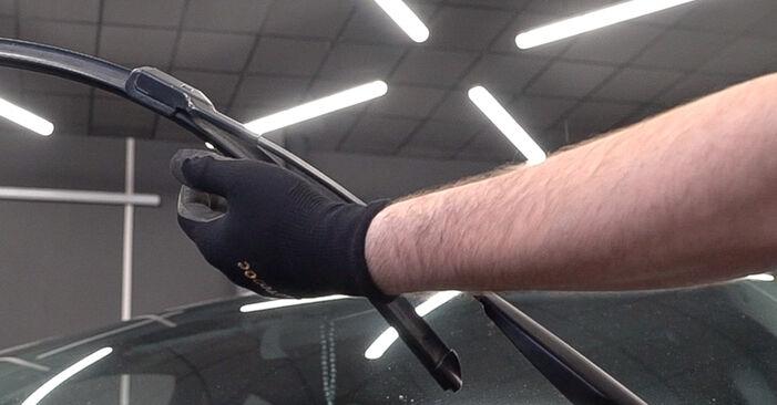 Wie Scheibenwischer FIAT BRAVO II (198) 1.6 D Multijet 2007 austauschen - Schrittweise Handbücher und Videoanleitungen