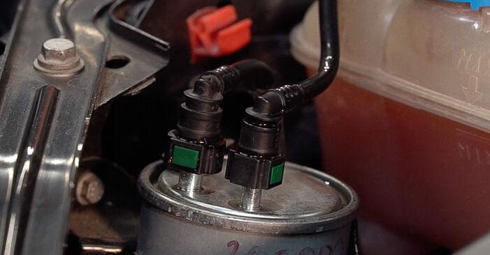 FIAT BRAVO II (198) 1.6 D Multijet 2008 Filtre à Carburant remplacement : manuels d'atelier gratuits