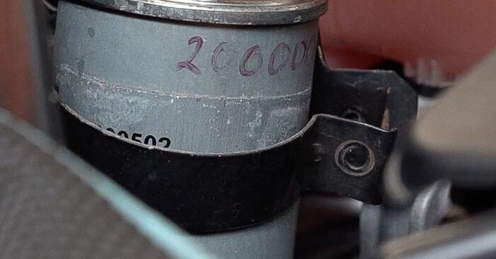 Comment retirer FIAT BRAVA 1.4 LPG 2010 Filtre à Carburant - instructions en ligne faciles à suivre