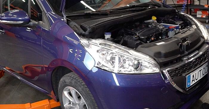 Wie Stoßdämpfer Peugeot 208 1 1.4 HDi 2012 tauschen - Kostenlose PDF- und Videoanleitungen