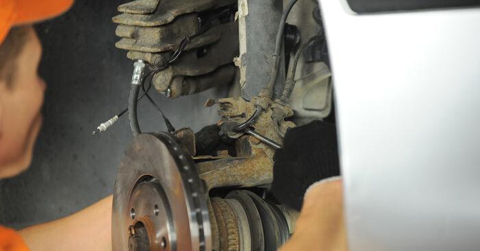 Austauschen Anleitung Radlager am Peugeot 406 Limousine 2005 2.0 HDI 110 selbst
