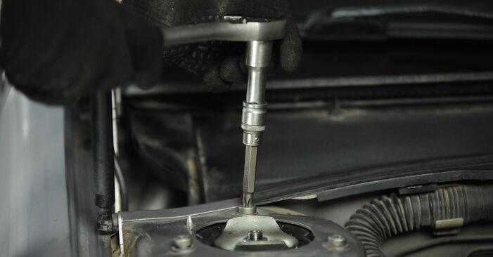 La sostituzione di Supporto Ammortizzatore su Peugeot 406 Sedan 2003 non sarà un problema se segui questa guida illustrata passo-passo