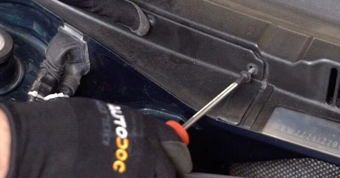 VW GOLF 1.9 TDI Innenraumfilter ausbauen: Anweisungen und Video-Tutorials online
